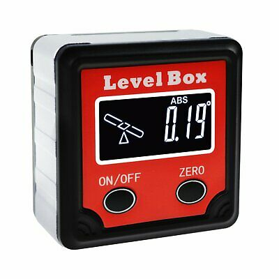 Digital Level Box Protractor Angle Finder Bevel Gauge Magnetic Base Meter 360°