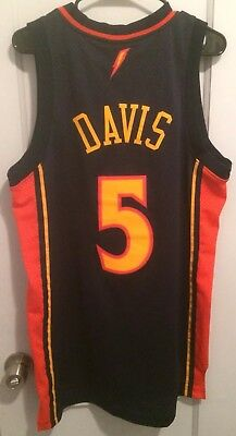 100c2d17 Baron Davis Golden State Warriors Nba Jersey Authentic Reebok Men M #5  Curry HWC