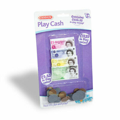 Kids Play Money Cash Coins Bank Register Fake Pretend Notes Shops Role Play New