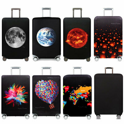 """Elastic Travel Luggage Suitcase Dust-proof Cover Printed Protector For 18''-32"""""""