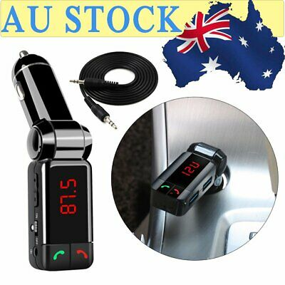 Wireless Bluetooth 4.1 Car Kit FM Transmitter Hands-free Car Charger MP3 Player