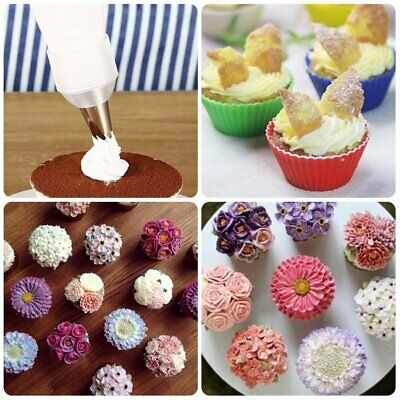 68pc Set Russian Tulip Icing Piping Nozzles Stainless Steel Flower Cream Pastry