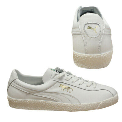 6463477c3d09a1 Puma Te-Ku Core Leather White Mens Lace Up Trainers Low Top 365420 02 D129