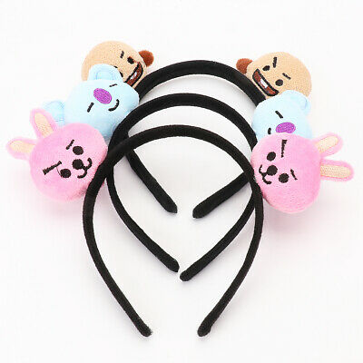 Kpop BTS Bangtan Boys BT21 Headband Cooky Chimmy Tata Shooky Vann RJ Hair Band