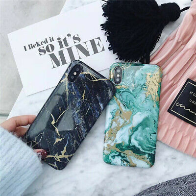 Marble Iridescent Holographic Holo Phone Case for Apple iPhone 6 6s 7 8 Plus XM