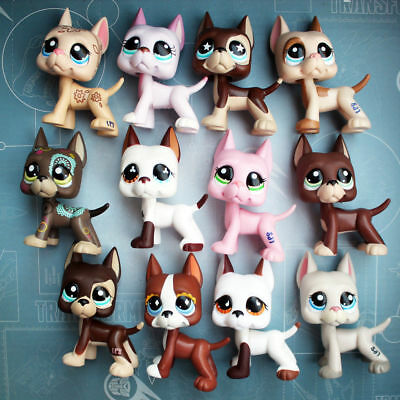 Littlest Pet Shop Dog Rare Great Dane LPS Dog  Random 5 Piece for girls gift