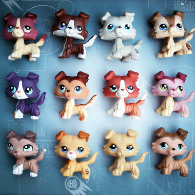Littlest Pet Shop Dog Rare collie LPS dog Random 5 Piece for girls gift