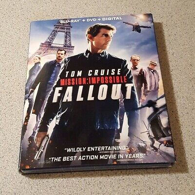 Mission: Impossible: Fallout Blu-ray+DVD+Digital W/SLIPCOVER New Sealed