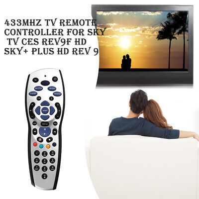 433MHz TV Remote Controller Replacement fr Sky TV CES REV9F HD SKY+PLUS HD REV 9