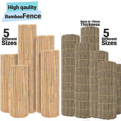 Garden Slat Screen Slatted Bamboo Fence Privacy Shield Wind/Sun Protraction