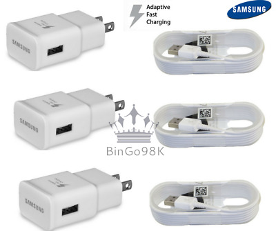 Original Samsung Galaxy S6+ S7 Edge Note 4 5 Adaptive Fast Rapid Charger cable