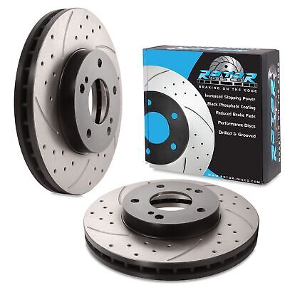 FRONT DRILLED GROOVED 280mm BRAKE DISCS FOR NISSAN 200SX S14 2.0 16V 300ZX Z32