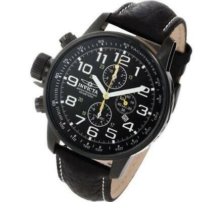 New Mens Invicta 3332 I Force Lefty Chronograph 46mm Black Sport Leather  Watch 3c6920bf5