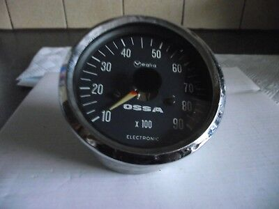 Ossa Electronic Rev Counter Original Vintage Used Good Condition