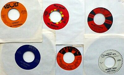 SURF / Hot Rod ROCK Lot of 6x45rpm singles from 1958-1963   LcLot51