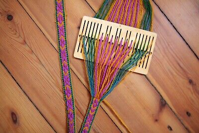 7 double slot rigid heddle loom, backstrap loom,saami band weaving, inkle,baltic