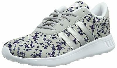 e522b682dad adidas Neo Lite Racer Women's Cloudfoam Running Shoes Grey Floral Gym  Trainers
