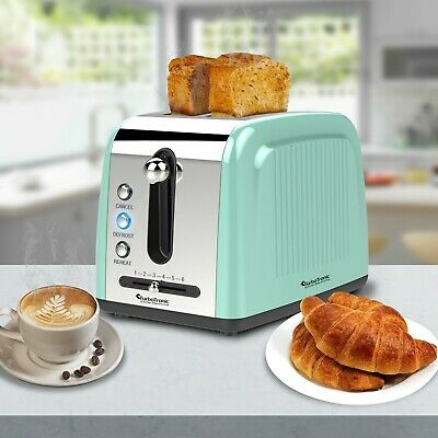 TurboTronic 2 Slice Retro Design Electric Pop-Up Toaster Variable Browning  MINT