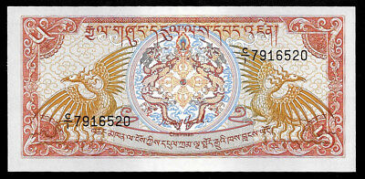 World Paper Money - Bhutan 5 Ngultrum ND 1985 P14 @ Crisp UNC