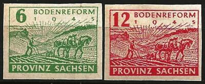Germany Allied Occupation (Province Saxony) 1945 MNH - Land Reform Mi 85-86