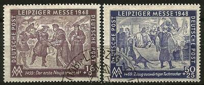 Germany Allied Occupation 1948 Used - Soviet Zone Leipzig Autumn Fair Mi 198-199