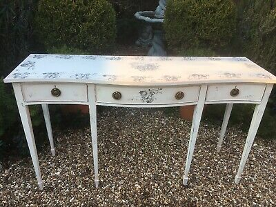 Mahogany Painted Hunter Large Hall Table  Gustavian French Shabby Chic