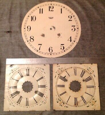 Antique Clock Dials Faces Ansonia Style & Smiths Wall Clockmakers Spare Parts