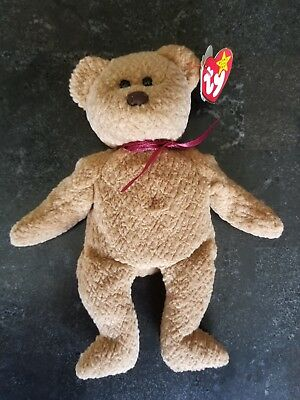 fa55363bd4e NEW Ty Beanie Baby Curly BEAR PVC Rare 1993 Canadian Customs Tush Retired -  MWMT