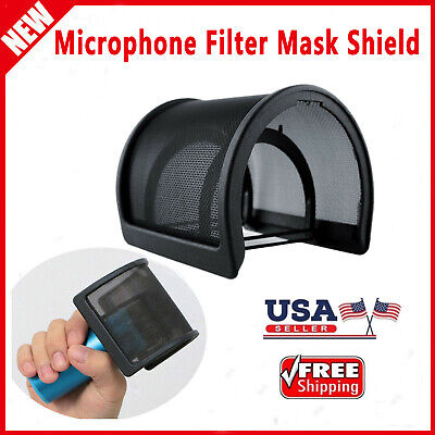 Microphone Filter Mask Shield Black For 45mm-68mm Diameter Recording Microphone