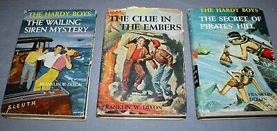 VTG  HARDY BOYS Books by Franklin W  Dixon, Lot of 3, Vol  #30, #35, and #36