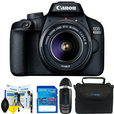 Canon EOS 4000D DSLR Camera and EF-S 18-55 mm f/3.5-5.6 III Lens+ Accessories