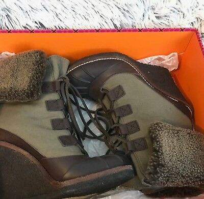 d582c7b1a815 TORY BURCH ARGYLL Lace Up Winter Snow Boots Size 6 -  69.00