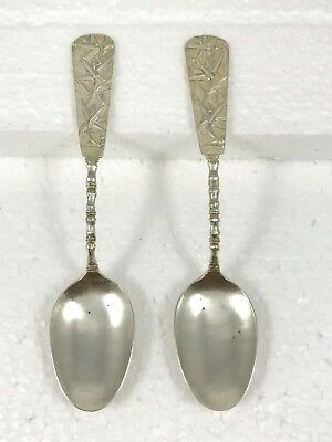 Chinese Export Sterling Silver Demitasse Spoon (2)