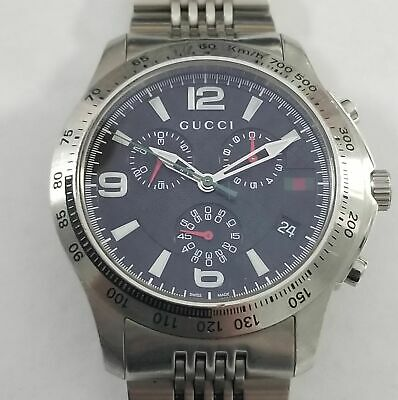 553726ff387 Gucci G-Timeless Stainless Steel 126.2 Chrono Watch Jewelry WB-GUCTM126