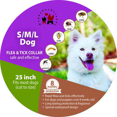 2x Flea Tick Collar For all Dogs Prevents all Pests For 8 Months Best Effective