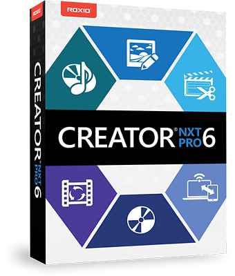 Roxio Creator NXT pro 6 Licence Key-Lifetime Powerful DVD burning-Download