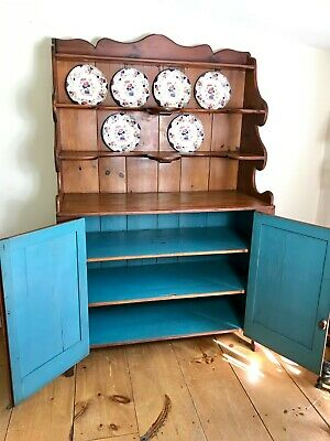 Antique 19th Century Country Cupboard Hutch Buffet Sideboard