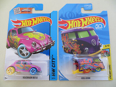 Hot Wheels Volkswagen Beetle 2015 & Kool Kombi 2018 Treasure Hunts  Lot Of 2