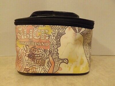 37cb19bcbabf Alice in Wonderland Makeup Cosmetics Travel Case Bag. Excellent Condition.