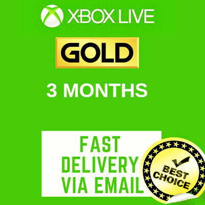 3 Months Xbox Live Gold Membership Subscription 🔥Global🔥fast Delivery max 7h🚐