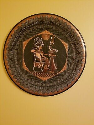 Vintage Copper Decorative Wall Hanging Hammered Egyption Plate Handmade