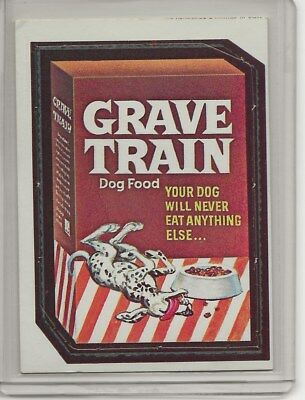 1967 Topps Wacky Packages #6 GRAVE TRAIN SP SUPER RARE Variation Die-Cut