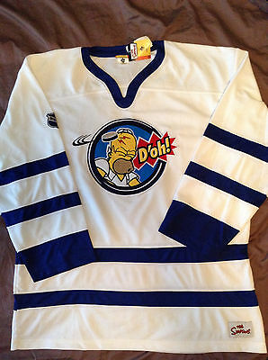 THE SIMPSONS HOCKEY JERSEY Homer D oh! VERY RARE! XL NEW with Tags ... 9bd2f2ee4be