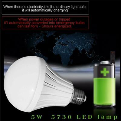 Outdoor E27 5WLED Smart Bulb Rechargeable Emergency LightBattery Lighting Lamp