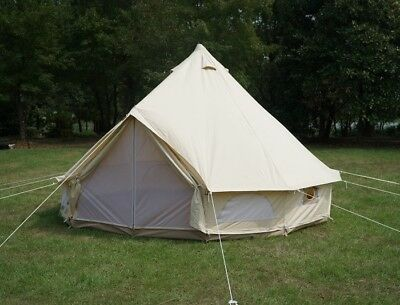 Canada Warehouse Available 4 Season Canvas 4M Bell Tent Family Camping Yurt Tent