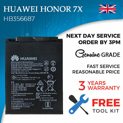 NEW HB356687 REPLACEMENT Battery for Huawei Honor 7X Free Tools 100%  Capacity