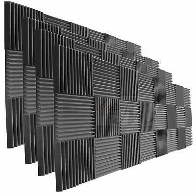 "96 Pack of  Acoustic Panels Studio Soundproofing Foam Wedge tiles 1""x12""x12"""