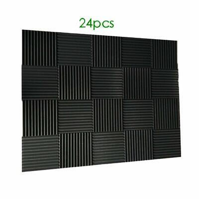 "24 Pack of  Acoustic Panels Studio Soundproofing Foam Wedge tiles 1""x12""x12"""