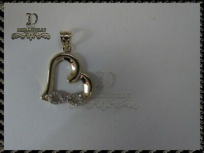 0.20Ct Round Diamond Heart Infinity Pendant 14K Rose Gold Over- Without Chain