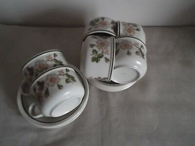 """Marks & Spencer ~ Autumn Leaves ~ 6 Cups & Saucers  ~ 3.5"""" Diameter"""
